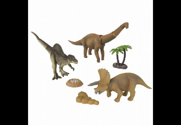 Dino Stomp Value Pack: Triceratops,Brachiosaurus,Spinosaurus & accessoreis